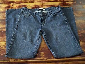 Women-s-Jeans-Low-Boot-Cut-Levi-039-s-545-Size-8M-Stretch-Dark-Medium-Wash-F10