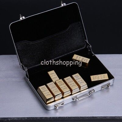 1//6 Scale Suitcase Magazine Golden Brick Scene Accessories For 12/'/' Figure Toys