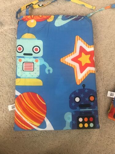 Cot Bed Bedding Set By Marks And Spencer Robots Themed