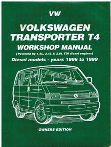 Amical Vw Transporter T4 1.9 2.4 2.5 Tdi (1996 - 1999) Owners Workshop Manual-afficher Le Titre D'origine ChronoméTrage Ponctuel