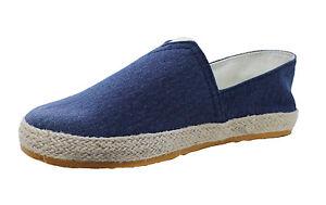 0ee77864b5 mocassini espadrillas uomo slip on calzature scarpe basse blu casual ...