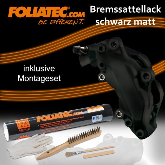 FOLIATEC BREMSSATTEL LACK SCHWARZ MATT 2176 + MONTAGE SET