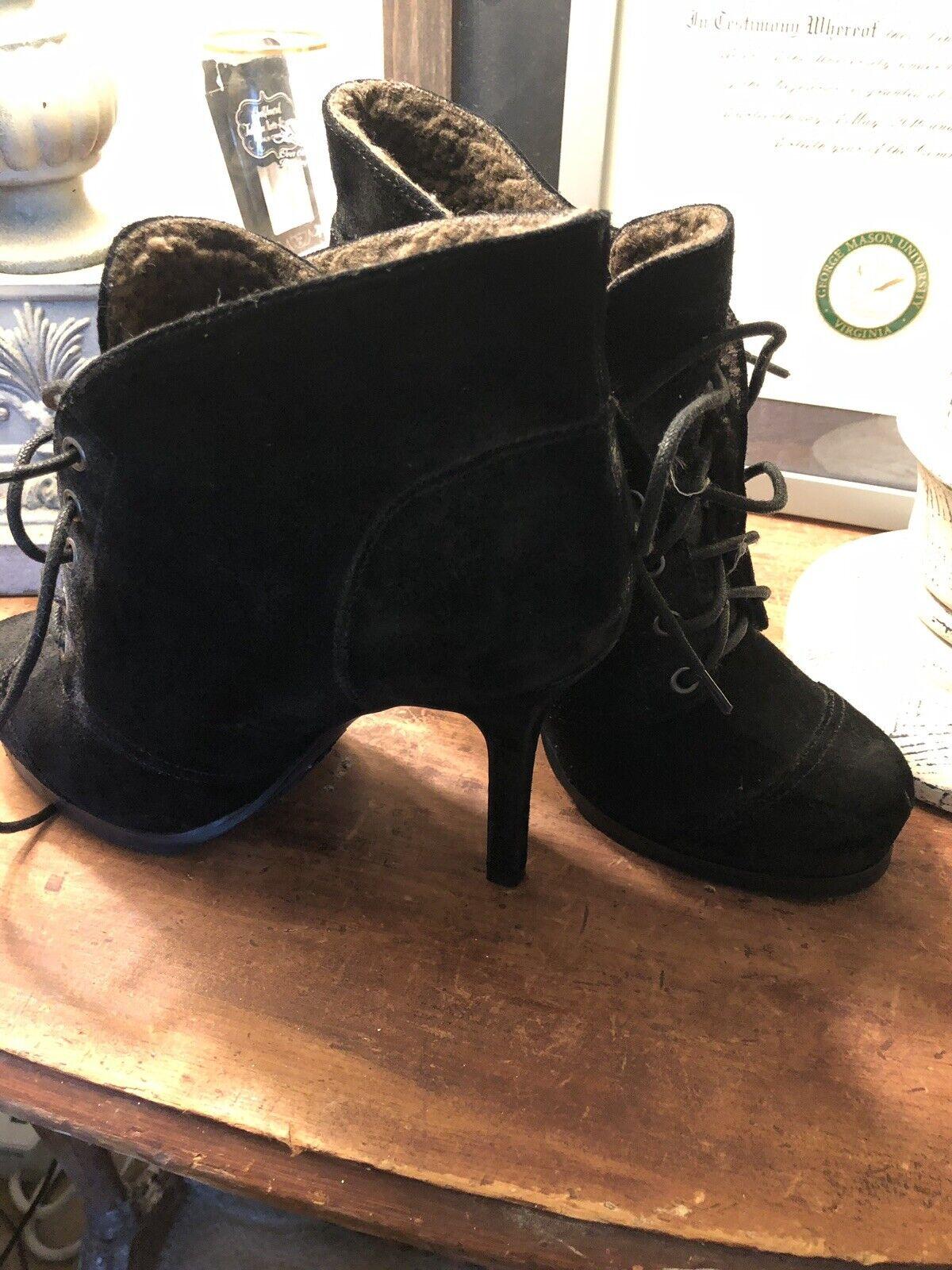LUXURY REBEL black Leather Boots Booties 39.5 EU 9.5 Womens Womens Womens 617014
