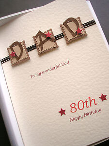 Personalised 80th birthday card for men dad husband grandad image is loading personalised 80th birthday card for men dad husband bookmarktalkfo Image collections