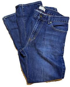 J-Crew-Mens-Jeans-34-X-32-30L-Classic-Straight-Leg-Denim-Pants-Medium-Wash-Blue