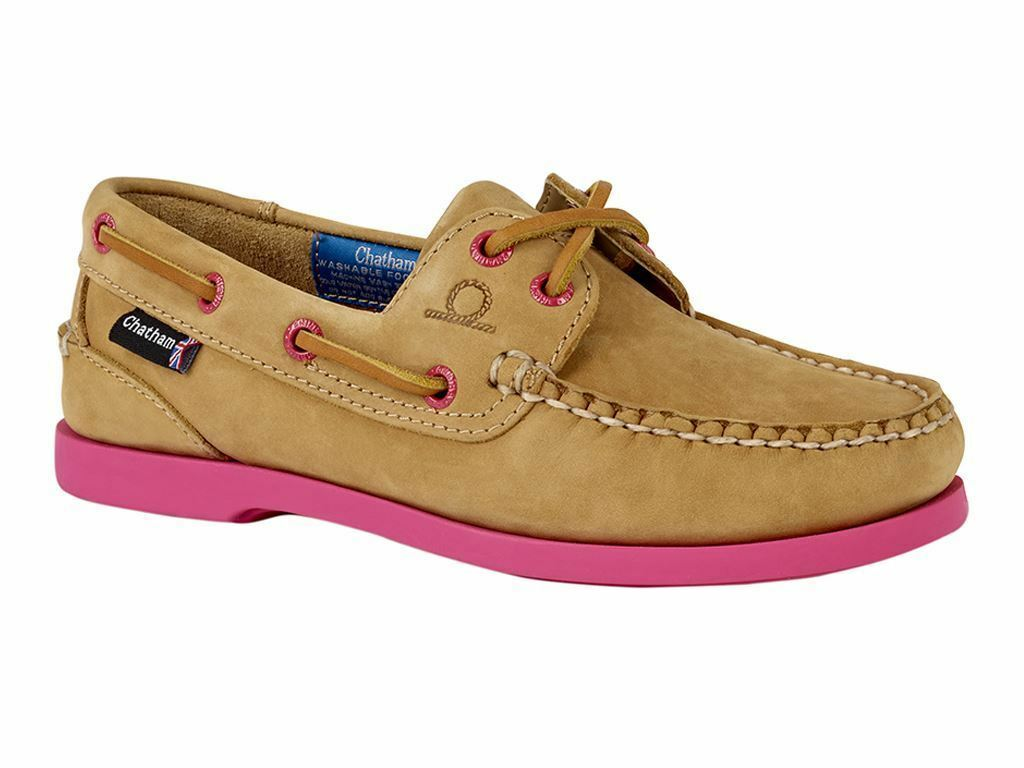 Chatham Chatham Chatham Pippa II G2 Leather Boat shoes - Tan Pink 13a328
