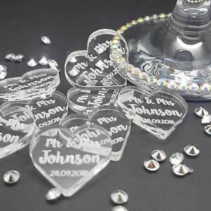 Personnalise-Mr-amp-Mrs-Love-Coeur-Table-De-Mariage-Confettis-Decorations-faveur