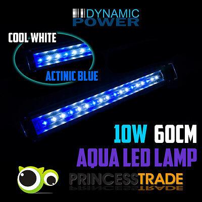 Aquarium Aqua LED Light Lamp Sea Marine Fish Coral Tank Blue White 12W 60cm