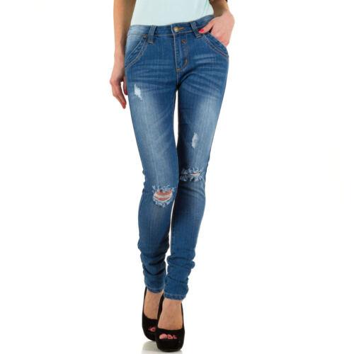 Damen Used Look Low Skinny Jeans 5856 Ital-design