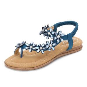 SOCOFY Women Summer Clip Toe Beach Sandals Bohemian Flat