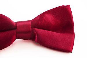 BOYS-DARK-RED-BOW-TIE-Wedding-Little-Baby-Toddler-Kids-Adjustable-Pretied