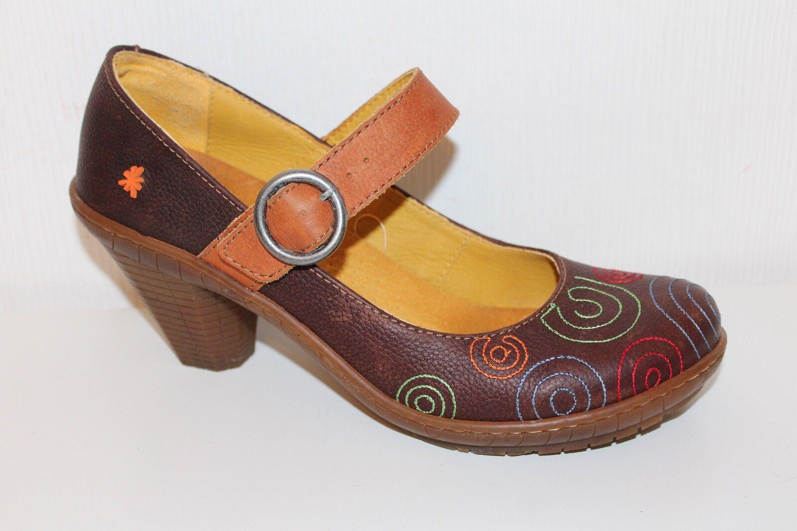 ART LEDER Damen SCHUHE PUMPS Mary Janes 40 Leder Schuhe UK7 Lagenlook ART