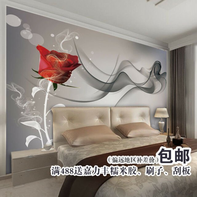 3D Wallpaper Bedroom Mural Roll Modern Luxury Embossed Rose Background W267