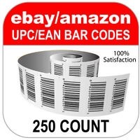 250 Upc Numbers Gs1 Barcodes Bar Codes Amazon Ebay Plus Images For Labels