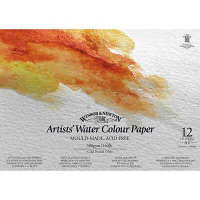 Winsor & Newton Artists Watercolour Pad - 300gsm / 140lb - Cold Pressed - A4