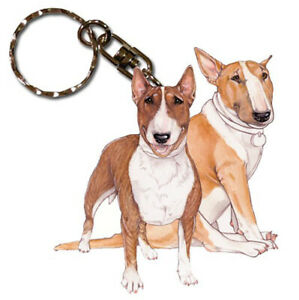 Image is loading Bull-Terrier-Keychain-Wooden 4d73649d2560