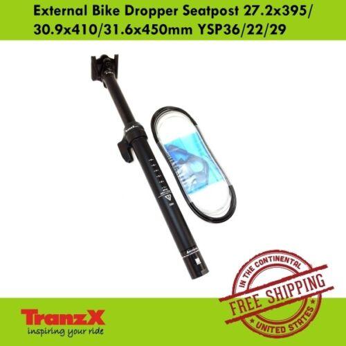 TranzX External Bike Dropper Seatpost 27.2x395//30.9x410//31.6x450mm YSP36//22//29