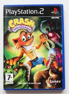 CRASH-GUERRA-AL-COCO-MANIACO-PLAYSTATION-2-PS2-PLAY-STATION-PAL-ESPANA-BANDICOOT