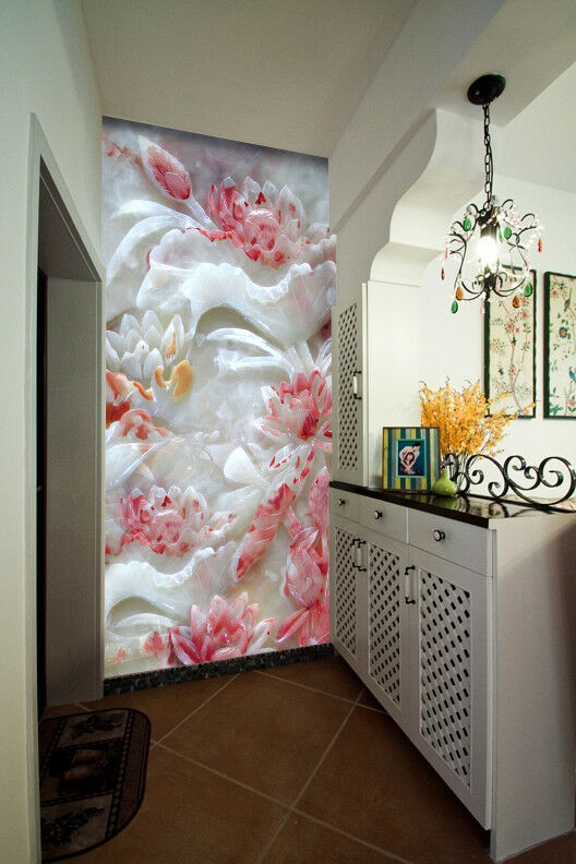 3D Emboss Flower 987 Wallpaper Mural Wall Print Wall Wallpaper Murals US Carly
