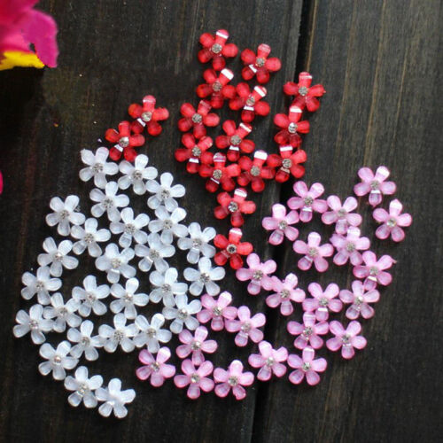 Resin Flower crystal Appliques For phone//wedding//shoes Jewelry making PB8 10PC