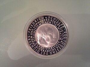 10 Euro Münze 2005 Friedrich Schiller Pp Ebay
