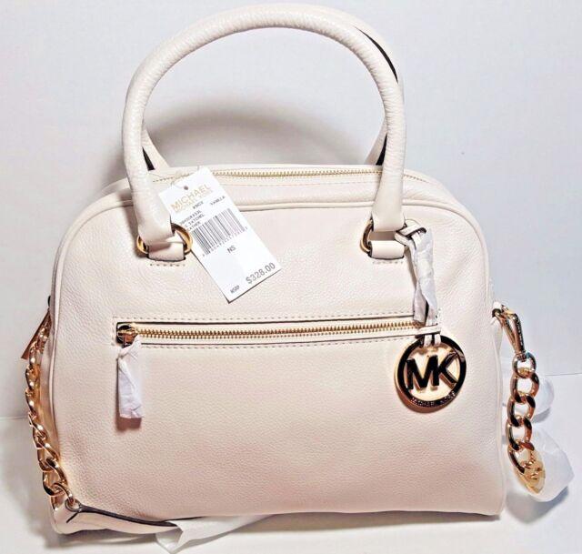 b8a9ca1b4add Michael Michael Kors Knox LG Satchel leather Vanilla for sale online ...