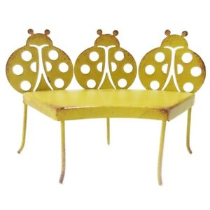 Groovy Details About Enchanted Garden Lady Bug Metal Bench Mini Fairy Garden Decorative Accessory Evergreenethics Interior Chair Design Evergreenethicsorg
