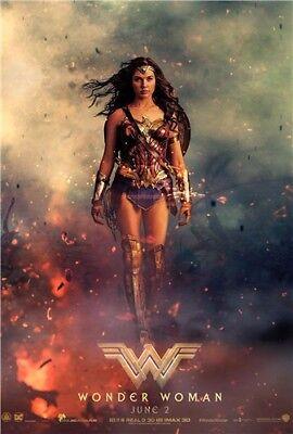 Wonder Woman 2017 Película Gal Gadot Arte Pared Moive Cartel