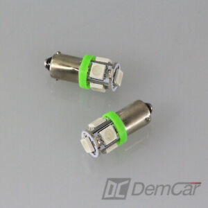 4x-LED-Lampe-5-x5050-SMD-H6W-BA9S-Couleur-Vert