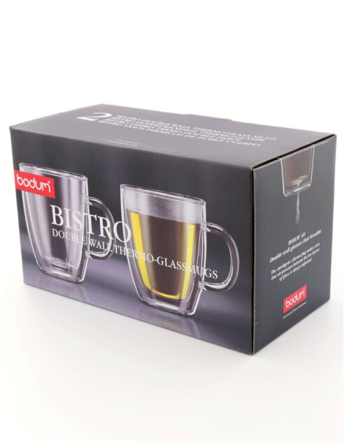 Bodum Double Walled Glass Set 0.3 Litre 300ml Pack 2's Ideal Present