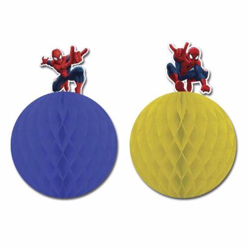 Wabenbälle Spiderman 2 Stück  Kindergeburtstag Spiderman Durchmesser 15 cm