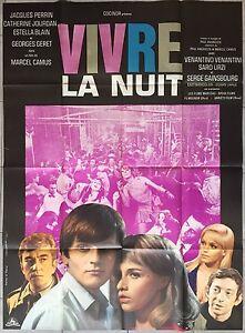 Affiche-VIVRE-LA-NUIT-Marcel-Camus-JACQUES-PERRIN-Serge-Gainsbourg-120x160cm