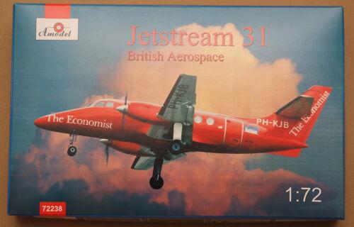 Amodel 72238 Jetstream 31 British airliner 1//72 unassembled model kit
