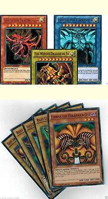 YGLD OBELISK SLIFER RA EXODIA All Holos TCG EGYPTIAN GOD CARDS 8-CARD SET
