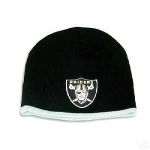 19c9844c94f OAKLAND RAIDERS KNIT BEANIE HAT SKI CAP NEWBORN NFL CLASSIC CUFFLESS ...
