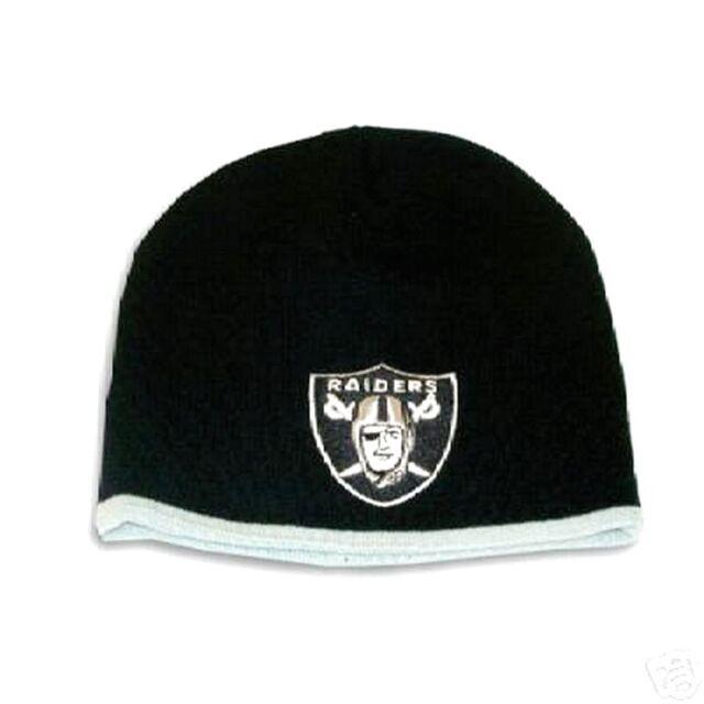 da87153006246 OAKLAND RAIDERS KNIT BEANIE HAT SKI CAP NFL NEW BORN BABY CLASSIC CUFFLESS  BLACK