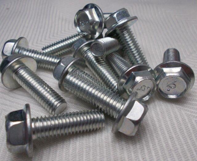 """Hex Head Flange Bolt M8 8mm X 1.25 Coarse X 25mm Thread  /""""Lot of 12 Bolts/"""""""