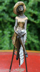 EXCLUSIVE-ART-DECO-BRONZE-STATUE-034-AT-THE-BAR-034-D-H-Chiparus-FIGURE-FIGURINE