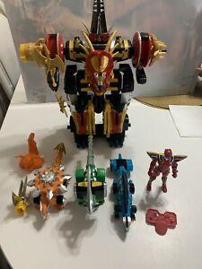 Power Rangers Dino Thunder Mezadon complete Electronic Megazord Carrier HTF