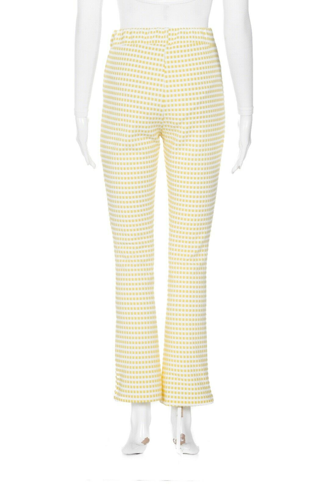 URBAN OUTFITTERS Check Pants Medium Yellow White … - image 3