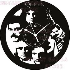 OROLOGIO DA PARETE  - DISCO IN VINILE - ROCK POP - FREDDY MERCURY - QUEEN