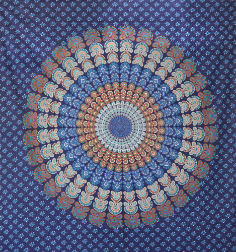 Indian mandala tapestry hippie wall hanging bohemian dorm decor Bedspread art