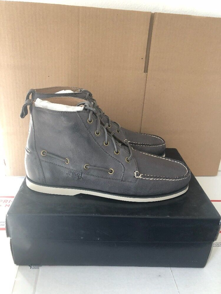 Polo Ralph Lauren Men's BARredT Leather Boot Char GRY Lace Up Boot Size 10