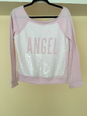 Women's Clothing Clothing, Shoes & Accessories Victoria's Secret Fashion Show Off Shoulder Bling Sequin Pink Fleece Pullover Xs