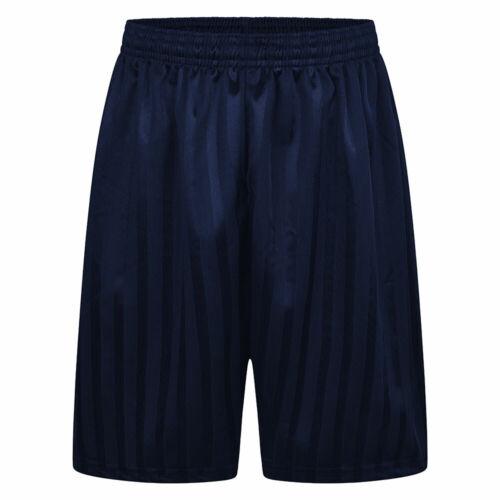 ZECO Boys Shadow Stripe Shorts Kids Gym Elastic Waist Sports Day PE School Wear