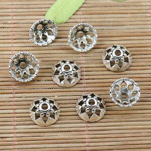 80pcs Tibetan silver crafted bead caps FC10153
