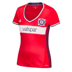 adidas Chicago Fire MLS 2016 Womens Soccer Home Jersey Red / White / Navy