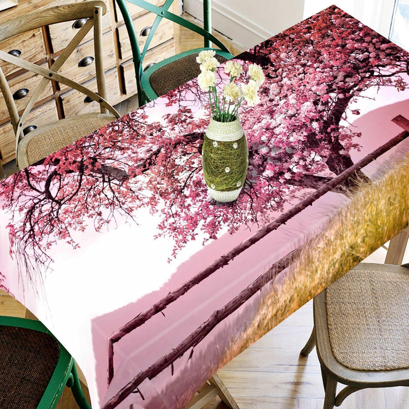 3D  Peach Tree 051 Tablecloth Table Cover Cloth Birthday Party Event AJ Lemon
