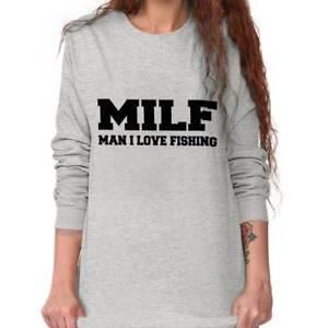 MILF Man I Love Fishing Fisherman Humor Funny Joke Pun Boat Lake Mens T-shirt