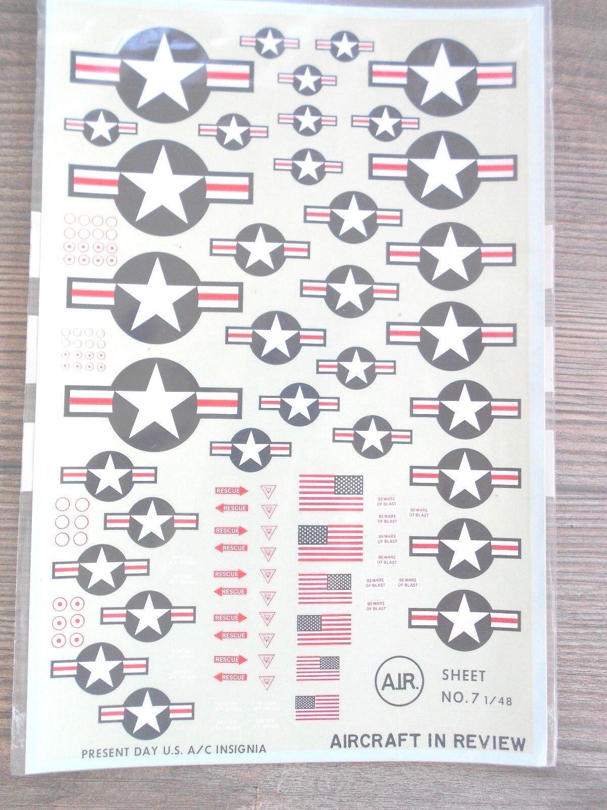 US MODERN INSIGNIA FLAGS RESCUE  HI-VIS  AIR DECALS 1 48